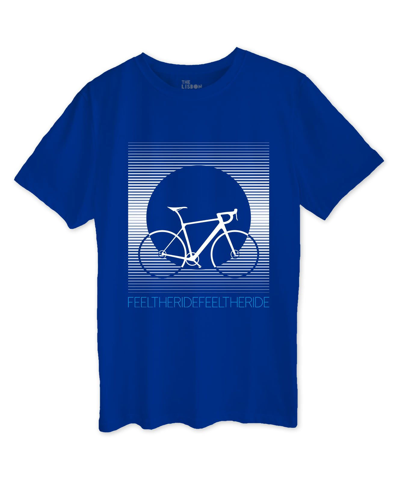 Bike Stripes Road T-shirt roayla blue