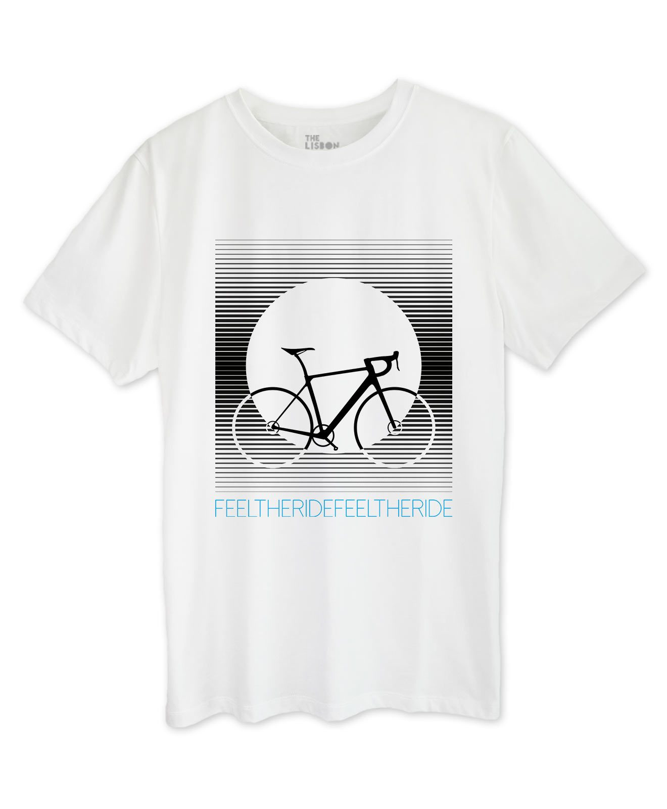 Bike Stripes Road T-shirt white
