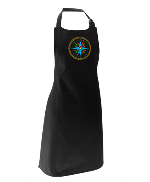 wind rose black apron