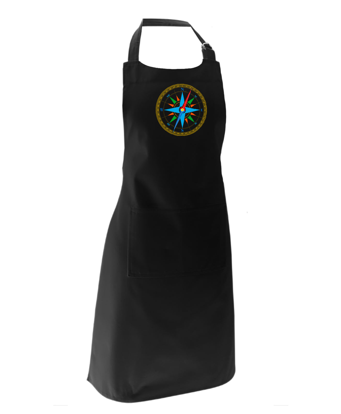 wind rose black apron