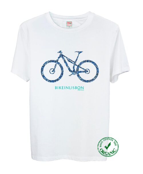 Bike In Lisbon MTB Tee blue and black Bike