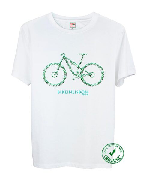 Bike In Lisbon MTB Tee Green Bike