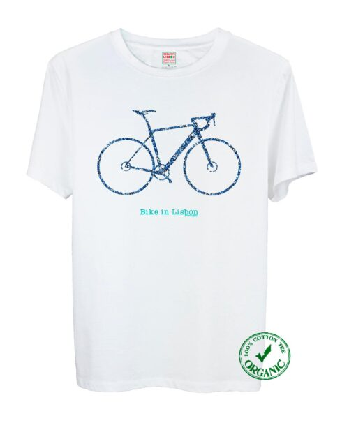 Bike In Lisbon Road Tee blue and black Bike