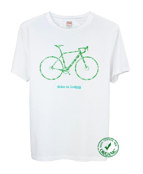 Bike In Lisbon Road Tee Green Bike