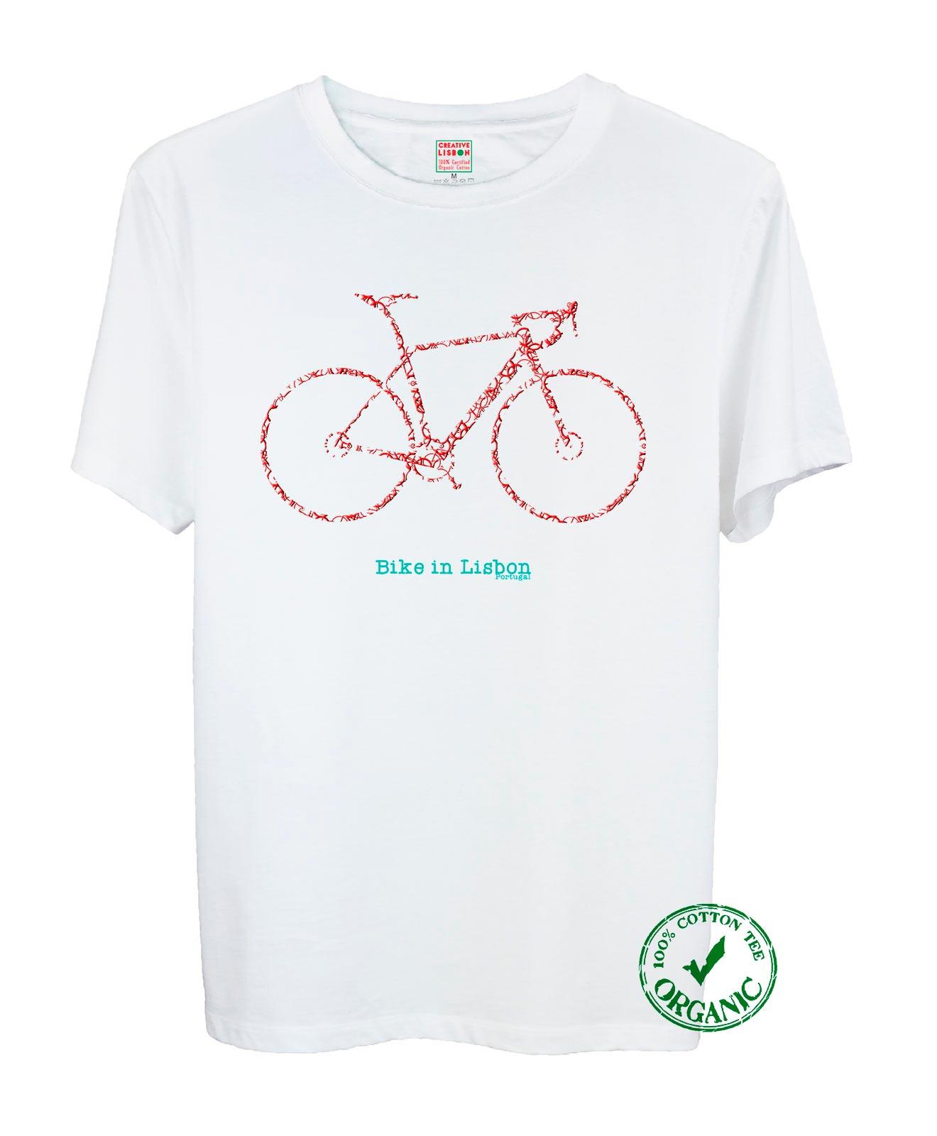 Bike In Lisbon Road Tee Red Bike