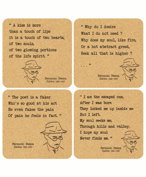 Pessoa's Poems Cork Costaers