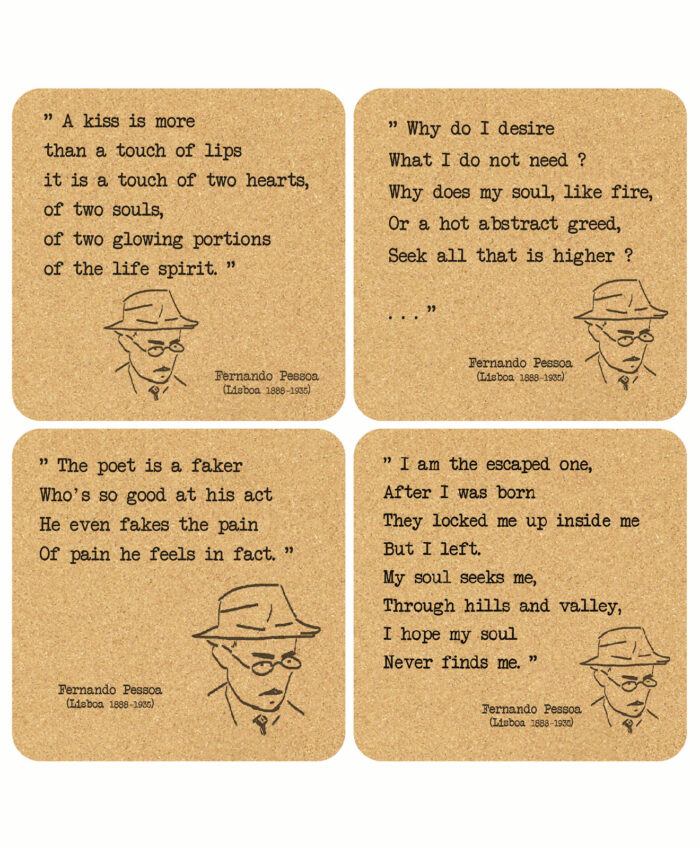 Pessoa's Poems Cork Costaers