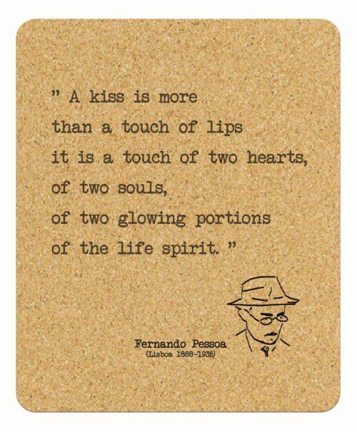 Pessoa's Poem Kiss mousepad