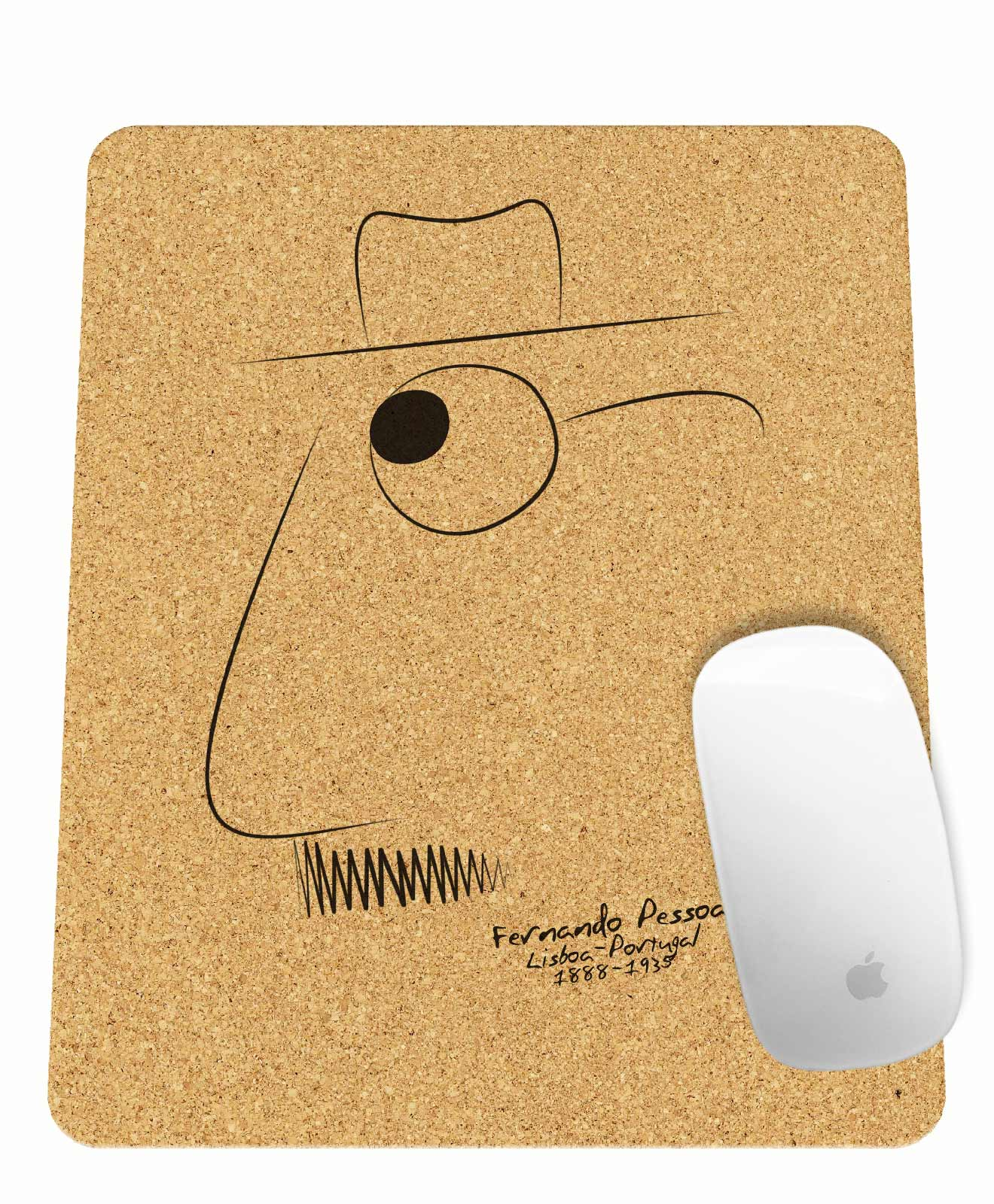 Pessoa Rectangular Mousepad