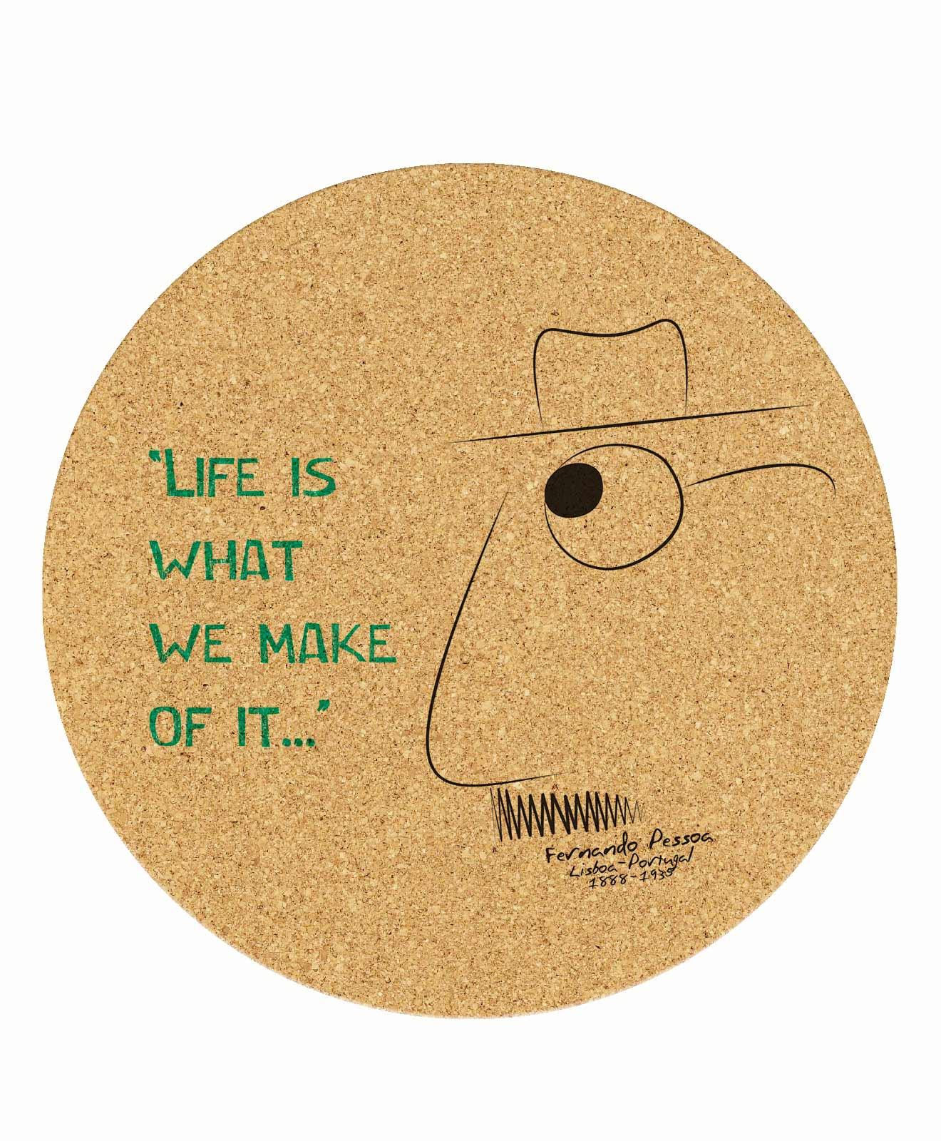 Pessoa's Life Round Mousepad