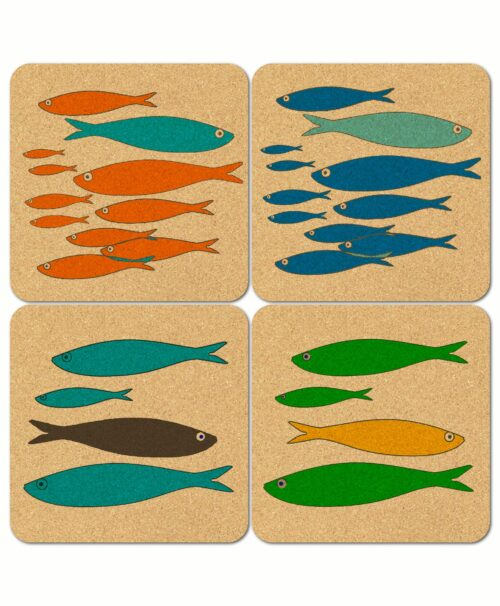 Sardines Cork Coasters