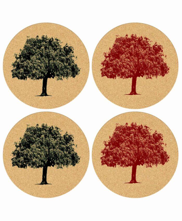Coasters Cork Oak