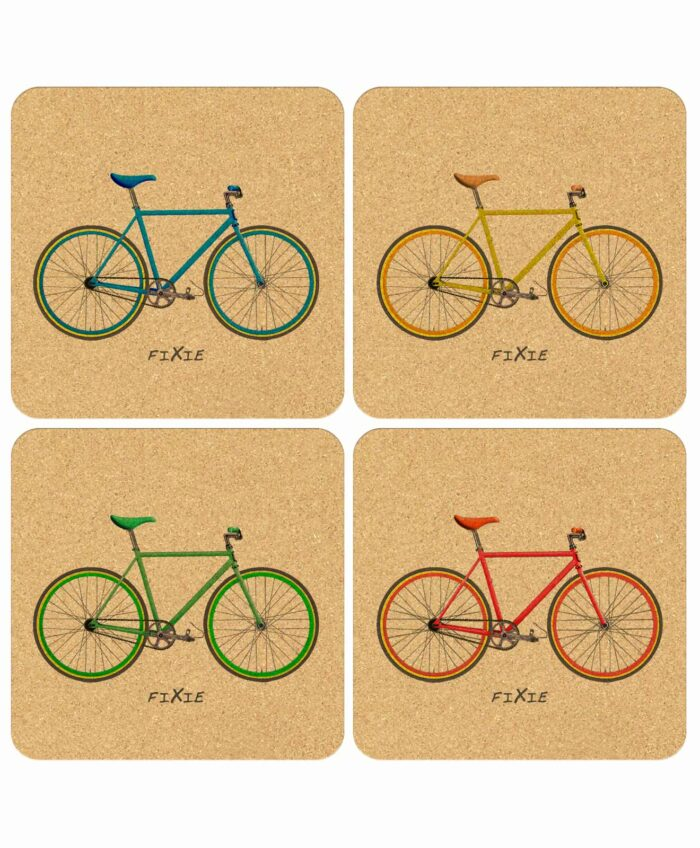 Fixie Bikes Cork Coasters