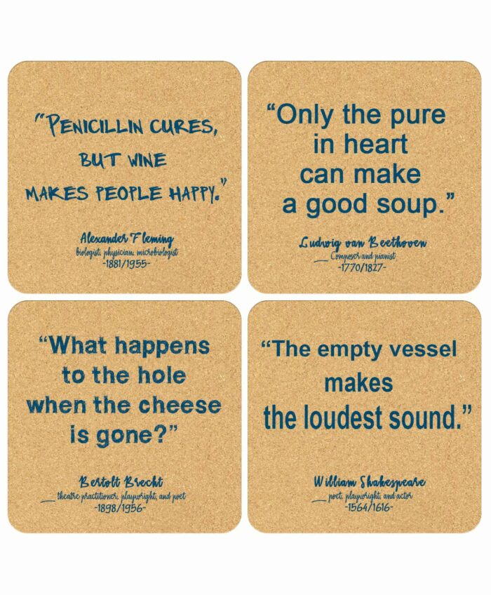 Cork Coasters Food Quotes