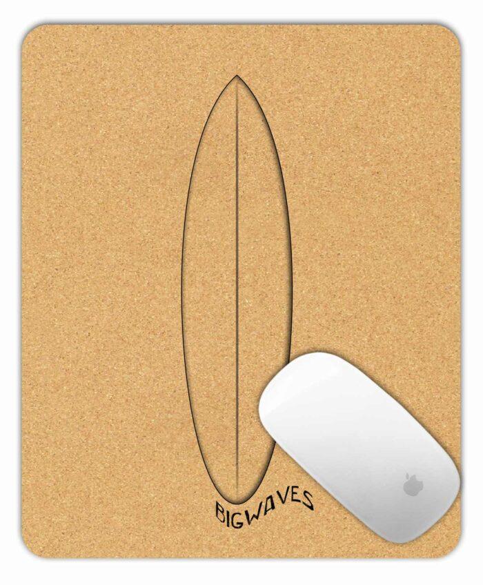 Cork Mousepad Surf Glass Board