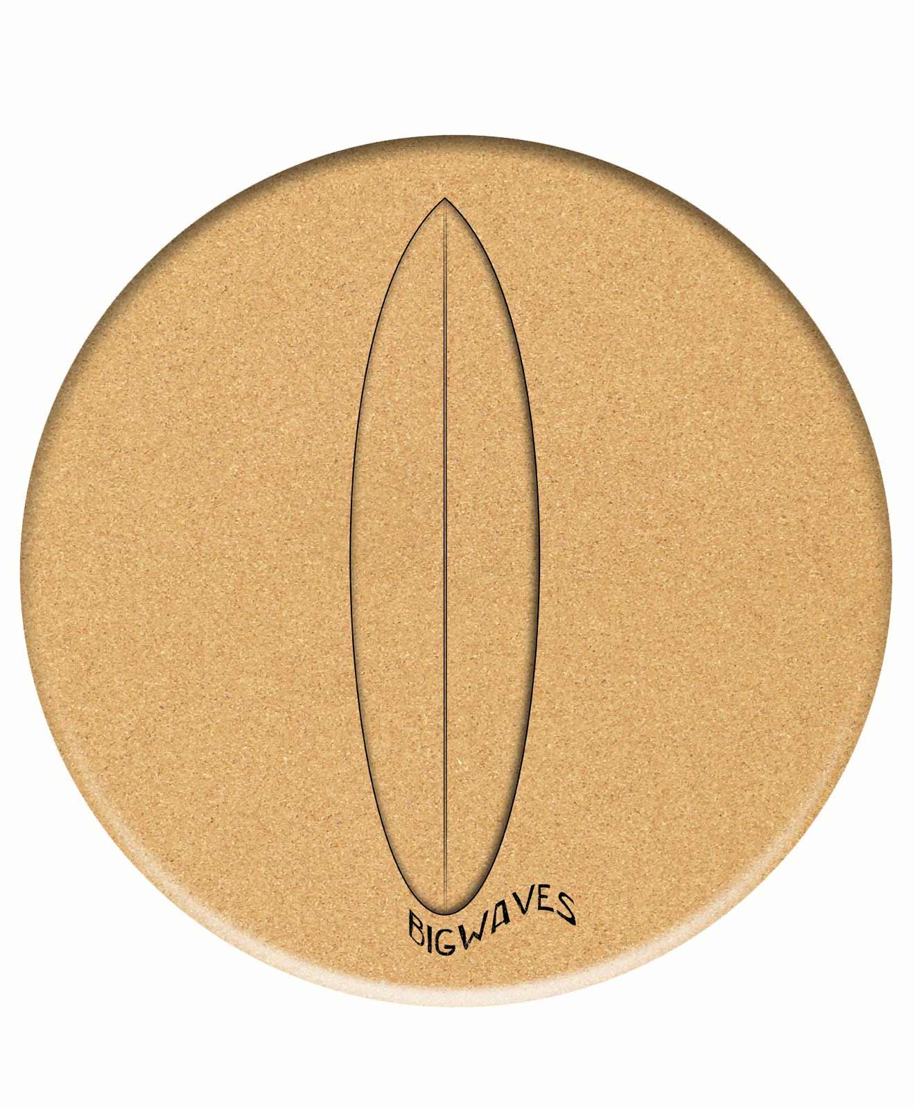 Cork Trivet Surf Glass Board