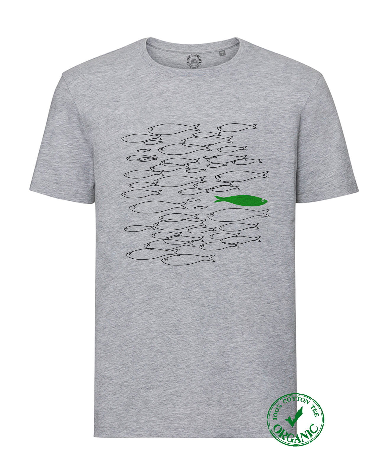 Organic Cotton Tee Green Sardine