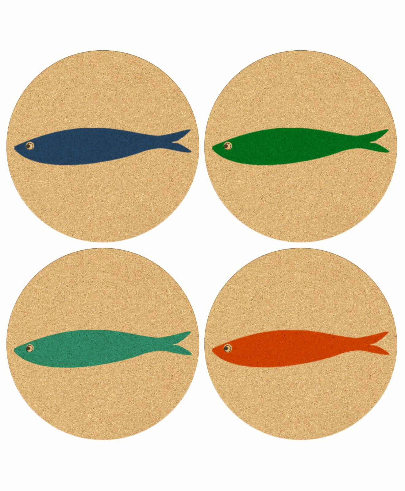 Cork Coasters Lonely Sardine