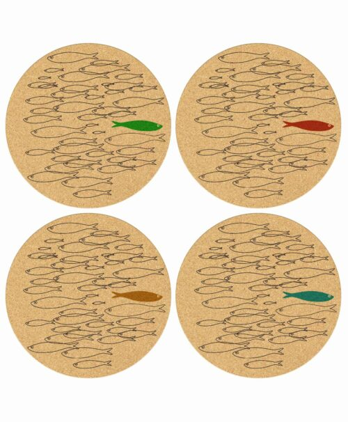 Cork Coasters Color Sardine