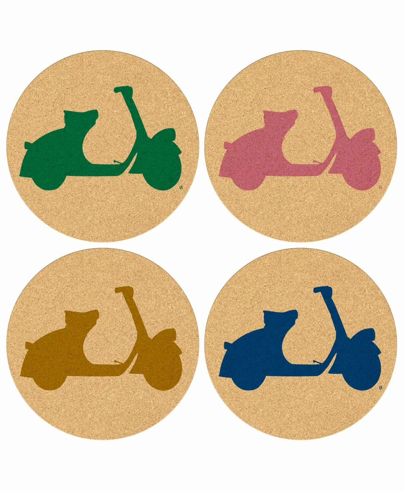 Cork Coasters Scooters