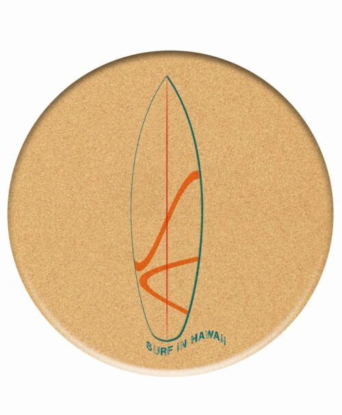 Cork Trivet Surf Hawaii
