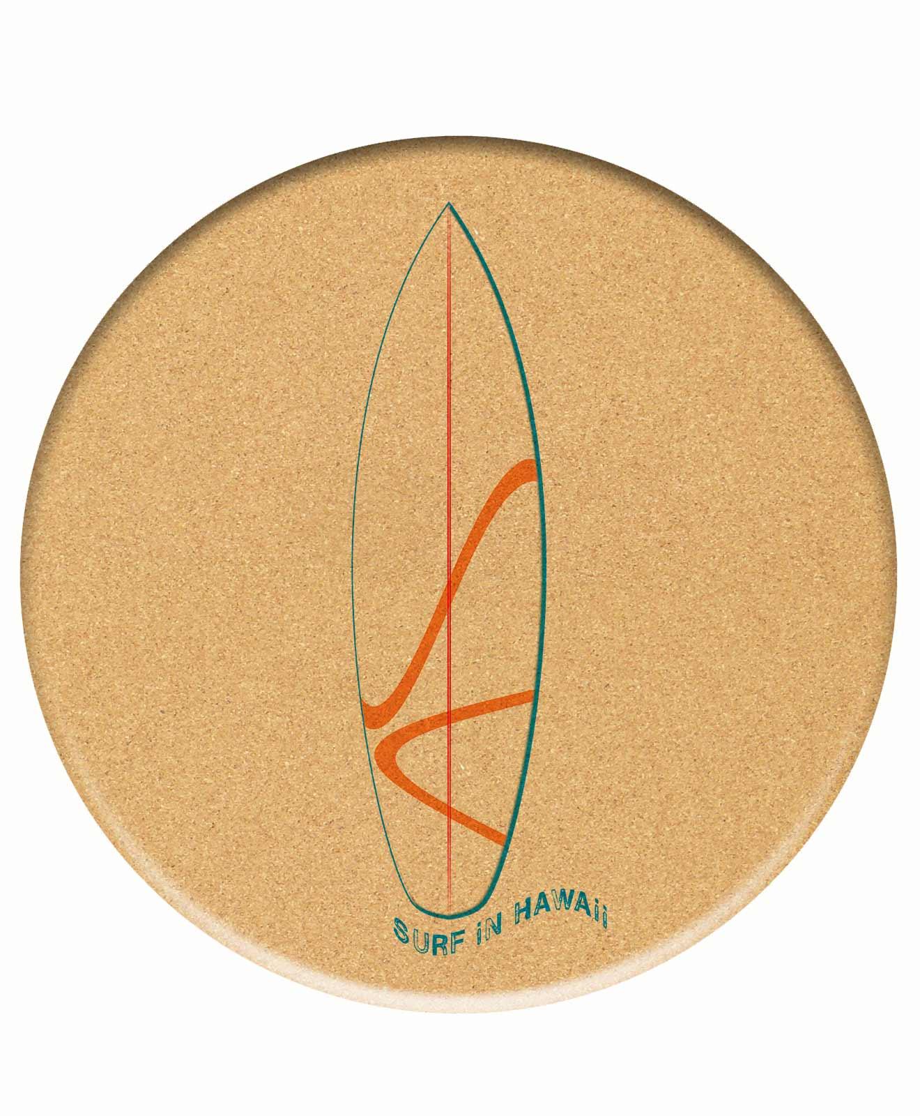 Cork Trivet Surf Hawaii