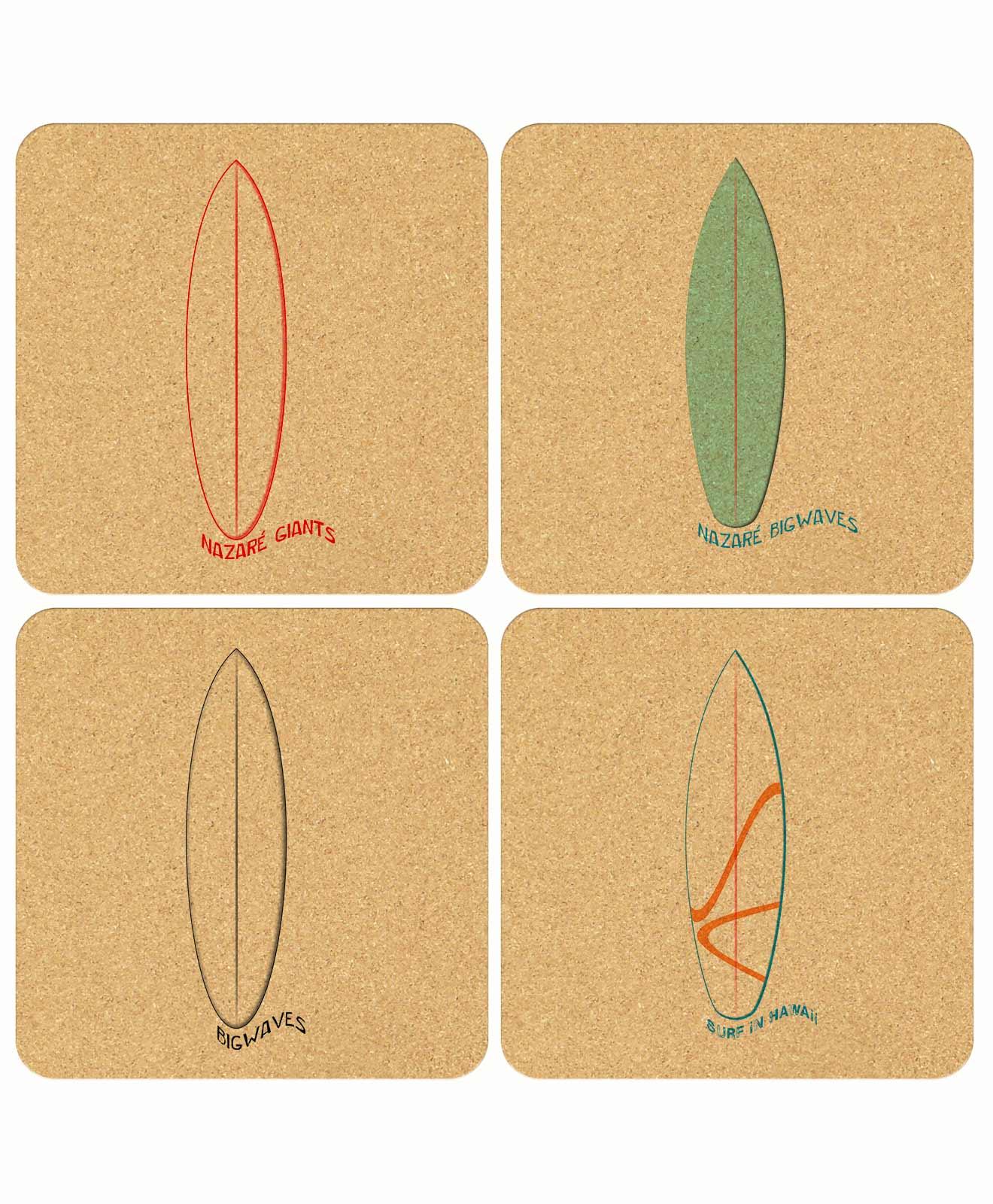 Surf Cork Coasters