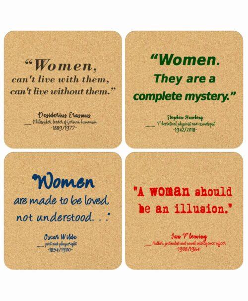 Cork Coasters Women Quotes