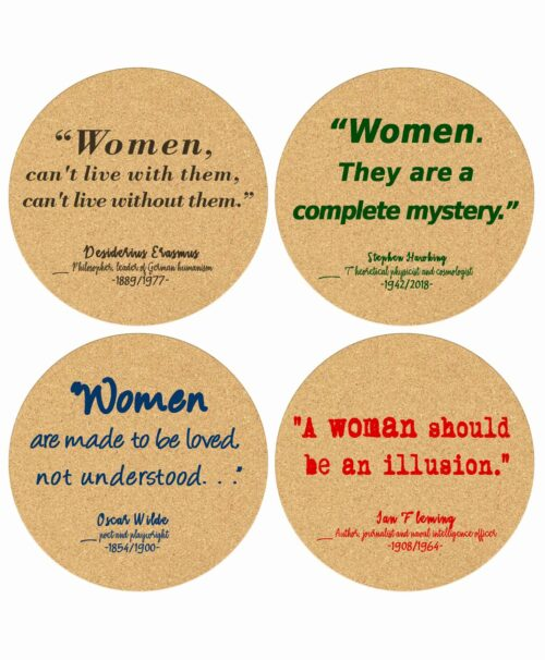 Cork Coasters Women Quotes
