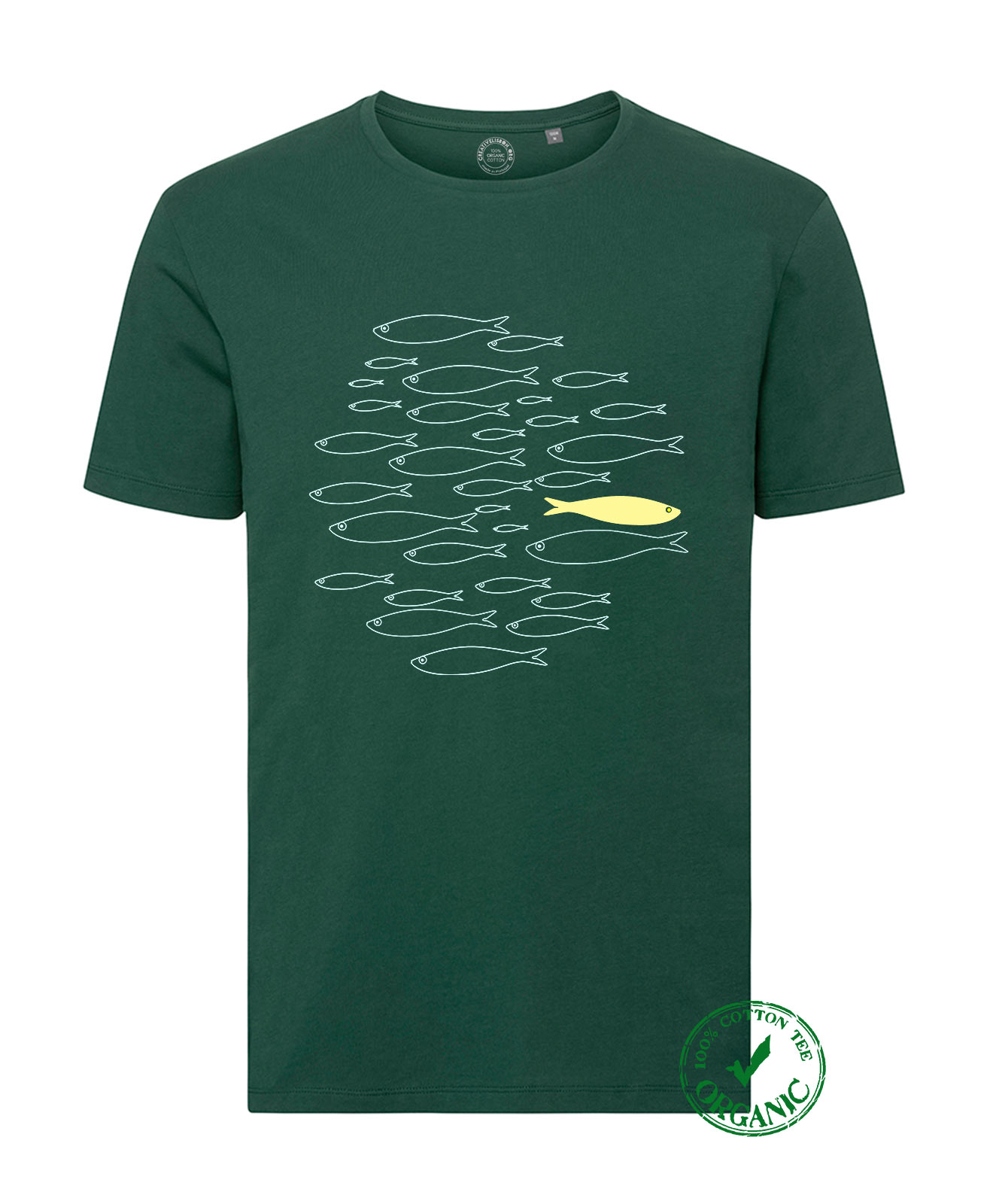 Organic Cotton Tee Yellow Sardine
