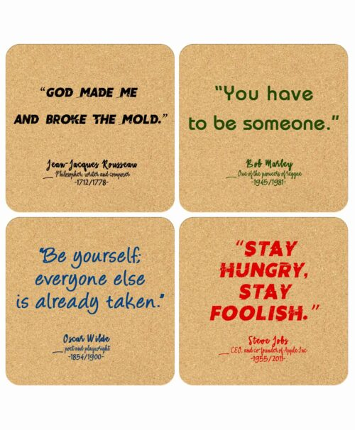 Cork Coasters You Quotes