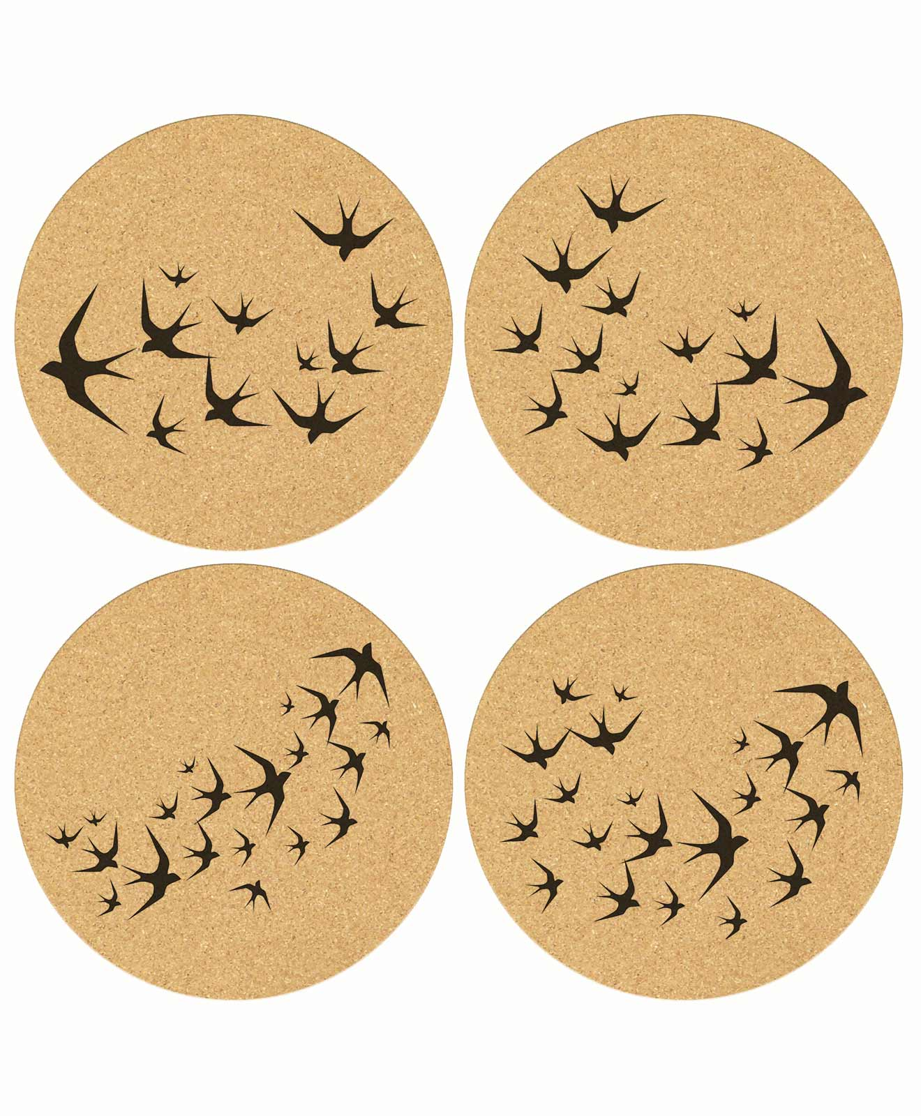 Swallows Cork Coasters