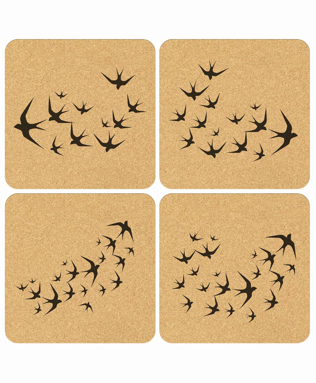 Swallows Cork Coasters