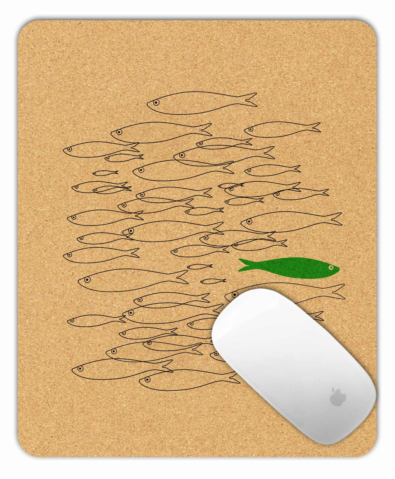 Mouse Pad Green Sardine