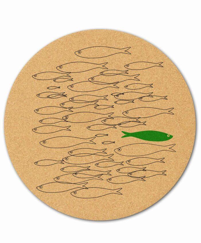 Mouse Pad Green Sardine