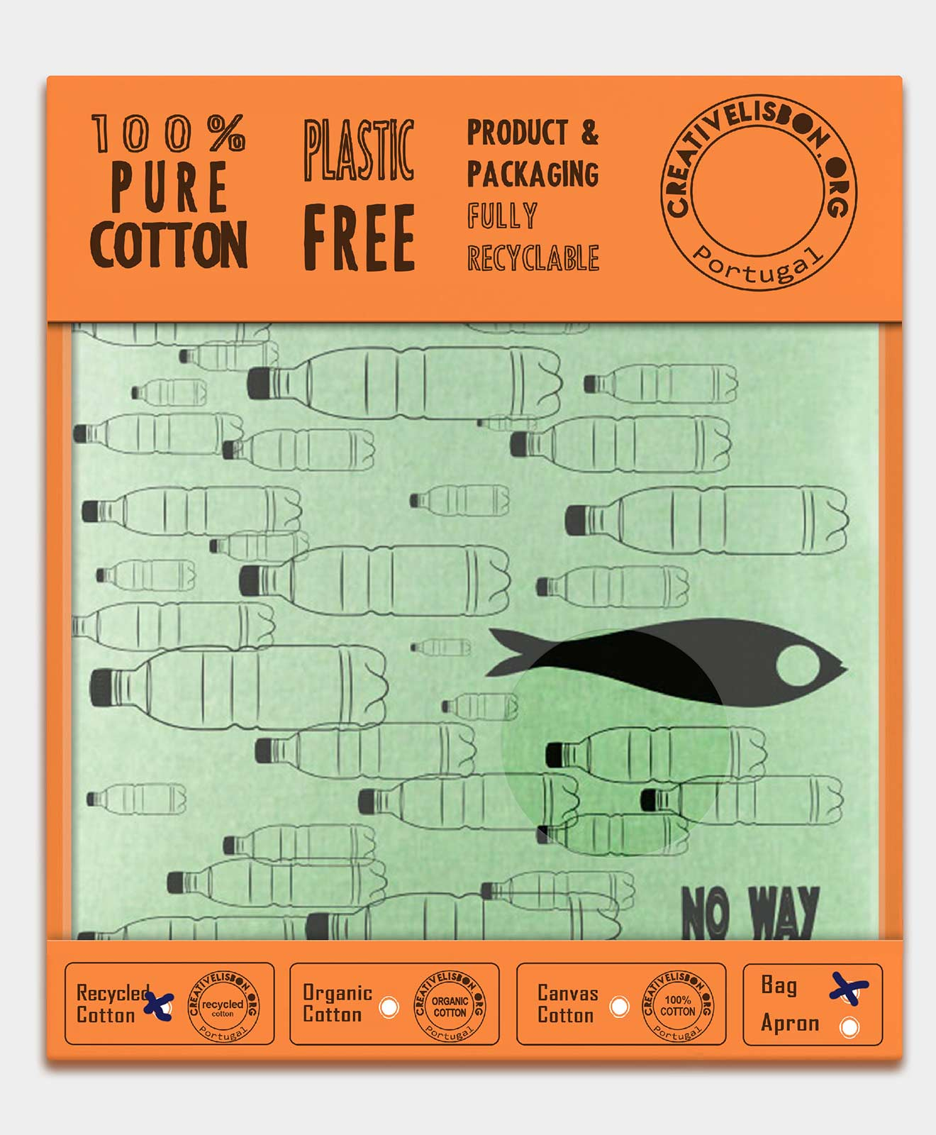 Recycled Cotton Bag No Way