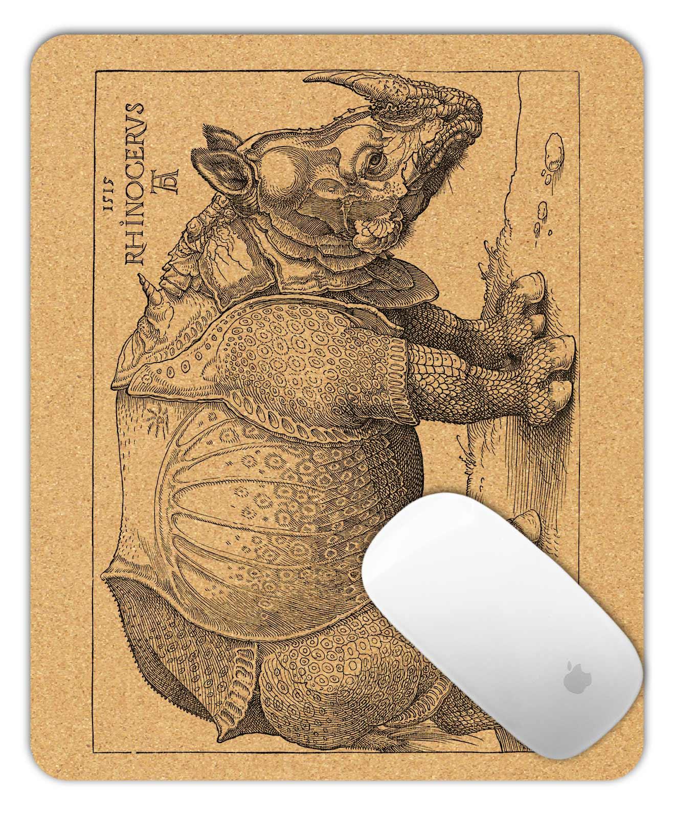 Rhinocerus Cork Mouse Pad