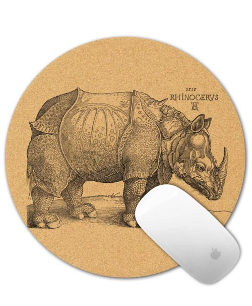 Rhinocerus Cork Mouse Pad