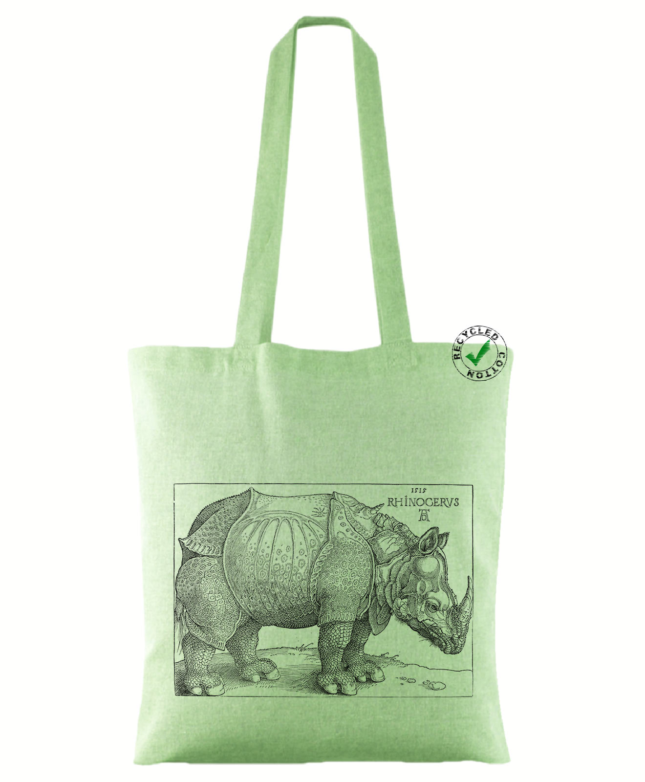 Rhinocerus Recycled Tote Bag