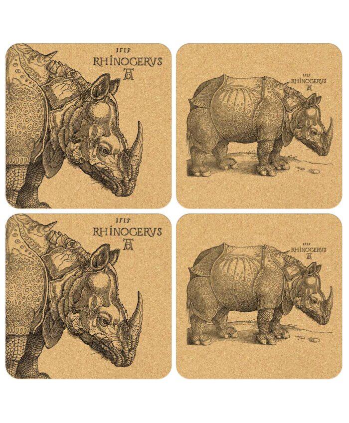 Rhinocerus Cork Coasters