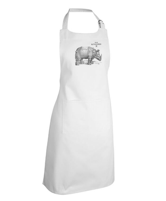 Rhinocerus White Apron