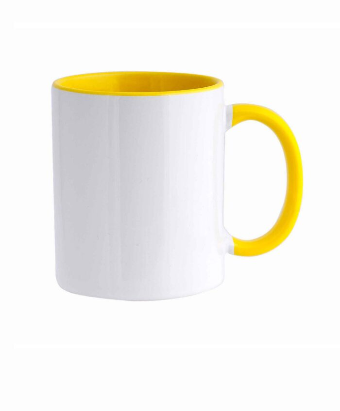 Personalized Ceramic Mug yellow