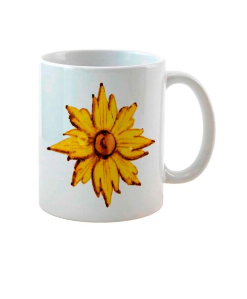 Tile Ceramic White Mug