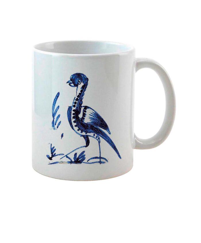 Bustard on Tile Ceramic White Mug