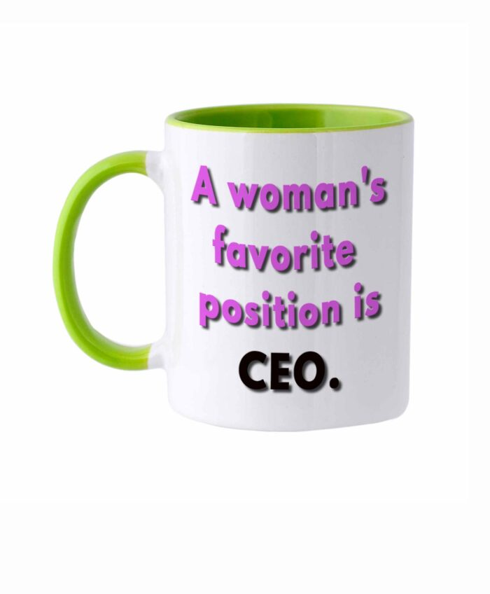 Woman's Favorite Position White Mug