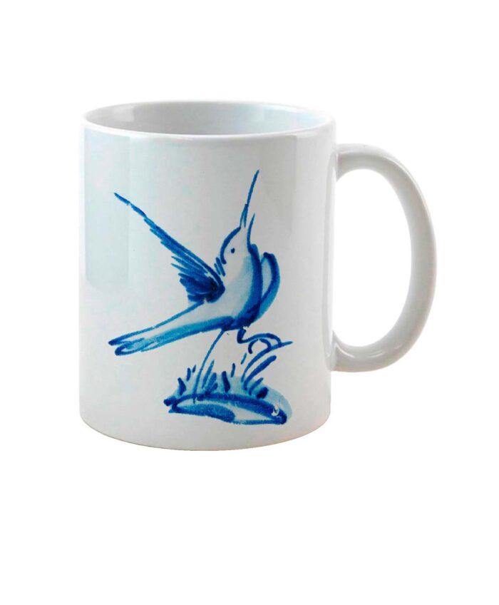 Tile Ceramic White Mug