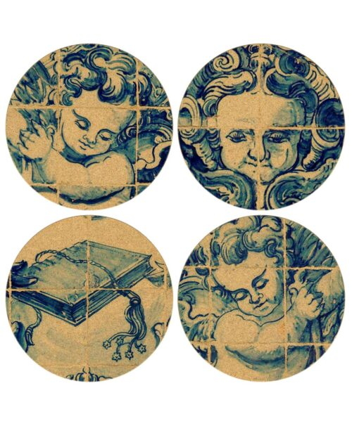 Angels Tille Coasters Set 2