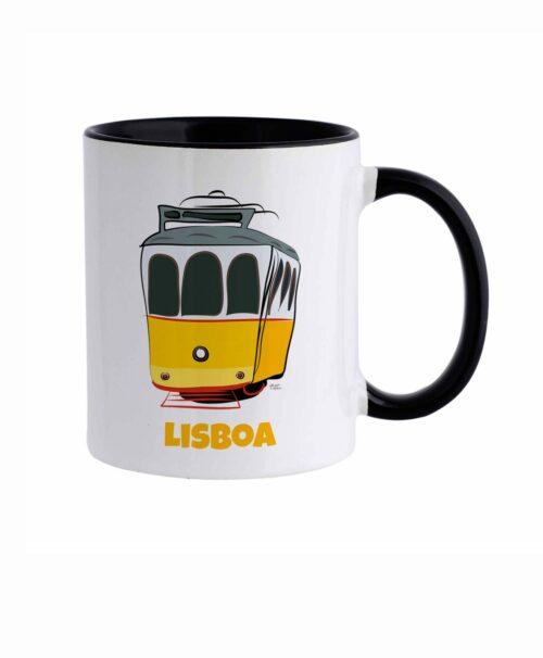 Lisbon Tram Ceramic white Mug