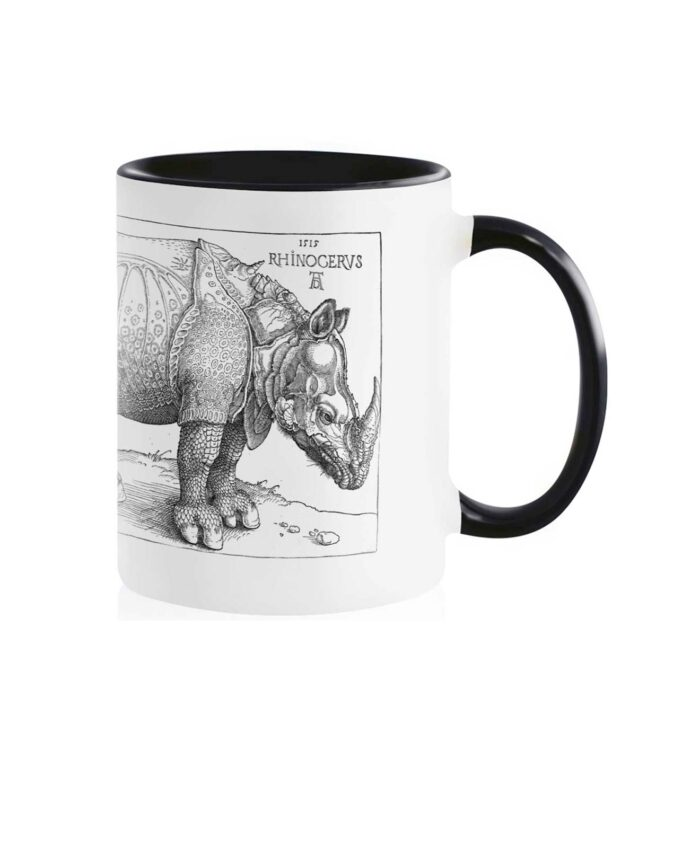 Rhinocerus White Mug