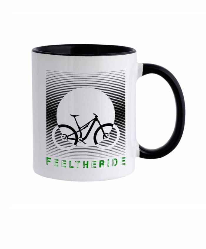 Feel the ride with your bike Mug MTB Black